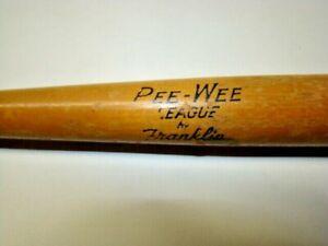Vintage Pee-Wee League by Franklin Mini 18 Inch Wood Baseball Bat