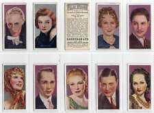 Full Set, Carreras, Film Stars by Desmond 1936 G-VG (Lz076-395)