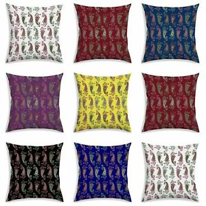 Paisley Design Print Cushion Cover Home Decoration Square Polyester Pillow Case