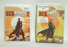 RED STEEL 2 & EXCLUSIVE PRE ORDER PACK new factory sealed Nintendo Wii game PAL