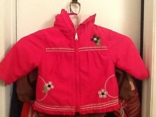 Little girls reversible jacket, 18 month's fuschia pink with floral EUC CUTE!!!!
