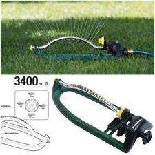 3400 sq ft Sturdy Oscillating Lawn Sprinkler Spray Watering Grass Garden Yard