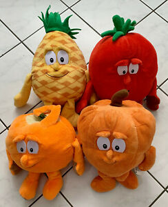 Goodness Gang Squad Orange, Tomate, Ananas & Kürbis Plüschfiguren guter Zustand