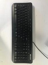 Microsoft Wired Desktop 600 X823073-001 Black USB Keyboard Model 1366