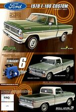 Moebius 1970 Ford F-100 Pickup 1:25 Scale Model Kit NEW (MK Limited Production)
