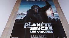 LA PLANETE DES SINGES les origines  !   affiche cinema