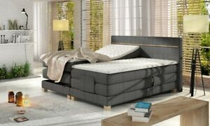Box Spring Bed Electric Adjustable Hotel Bed Double Bed Wood Bed Grey Angelo