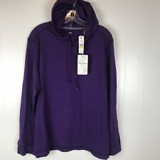 NEW $130 Tommy Bahama Sport Core Bali Coast Mens Hoodie M Grape Purple Cotton