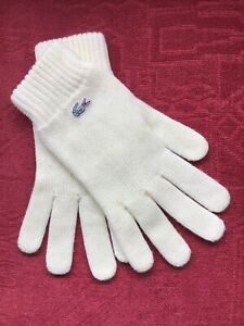 Lacoste Wool Gloves - Cream Vintage - Medium To Large - Excellent Condition