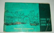 Old owners handbook for Ford Consul 375 - Zephyr - Zodiac mk11 .
