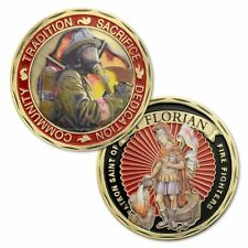 US FireFighters Patron Saint St. Florian Challenge Coin fireman Collectible Gift