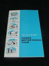 VINTAGE TRAVEL EPHEMERA Souvenir Booklet Cooks Motor Coach Tour Spain Portugal