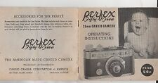 PERFEX fifty-five 35 mm candid camera vintage manual