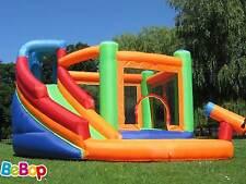 BeBop Spin Combo Big Inflatable Bouncy Castle And Garden Water Slide For Kids