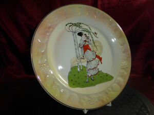 """PALISSY by Royal Worcester """"SELINA"""" Ceramic Cabinet Plate ART DECO EMBOSSED VGC"""