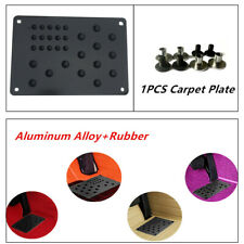 220x150mm Aluminum Truck Auto Car Floor Mat Carpet Heel Plate Foot Pedal Rest