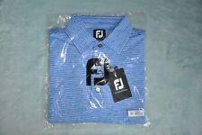 NWT FootJoy FJ Golf Polo Shirt Men's Size L Color Cobalt/White #25550