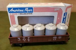 American Flyer 4-9304 New York Central NYC Gondola and Canisters