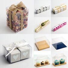 Rectangular Wedding Favour Gift Boxes DIY Transparent PVC Clear Square