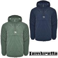 Lambretta Pullover Jacket Mens Hooded Overhead Winter Coat Warm Lined UK S-4XL