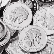 Indian Skull 30 X 1 .999 Fine Silver Round bar Bullion Mini Silver Coin oz RE321