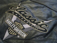 Harley Davidson Leather Jacket Tan Black Bomber Varsity Motorcycle Biker L Large