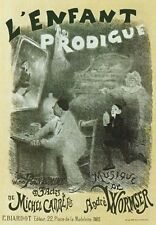 AP124 Vintage 1890 L'Enfant Prodigue Theatre Advertisement Poster Card Print A5