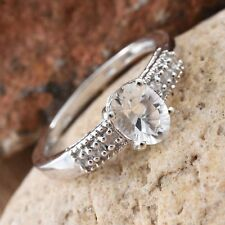 Petalite, Cambodian Zircon Platinum Over Sterling Silver Ring (Size 9.0) TGW 1.3