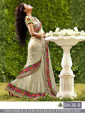Indian Fashionable Saree traditional Ethnic Lovely Bollywood Designer Partywear