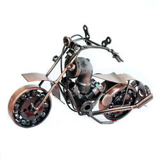 Retro Metal Art Craft Motorcycle Sculpture Model Collectibles Home Ornament