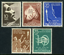 Indonesia 468-472, MNH. Universal Declaration of Human Rights, 10th anniv. 1958