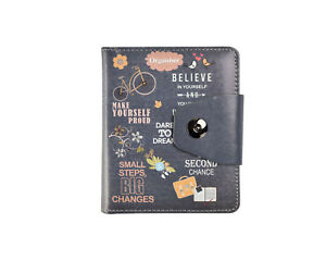 A6 Executive Personal Organiser Ruled Un-Dated Notebook, Slogans,Padded PU Cover