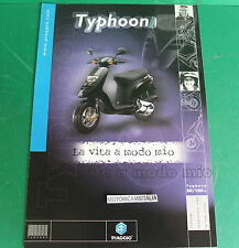 PIAGGIO TYPHOON 50 125 SCOOTER PUBBLICITA DEPLIANT BROCHURE CATALOGUE
