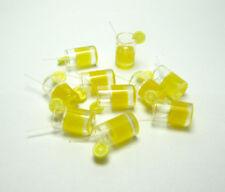 10 Dolls House Miniature 1:12 Orange Juice Lemon Water Cup Drink Glass Accessory