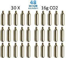 30 x 16g Threaded CO2 Cartridge Canister Capsule Bike Tyre Inflator Pump Gas Co2