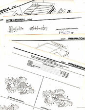 1960'S INTERNATIONAL SCOUT 80 800 MODELS ORIGINAL MOTOR'S CRASH SHEETS M5 4PAGES