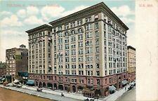 Toledo Ohio~Spitzer Building~Patterson's Cafe~Shops~Busy Street~1910 Postcard
