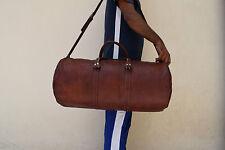 "20"" Vintage Leather Duffle Bag Gym Sports Bag Weekend Travel Bag Luggage Handbag"