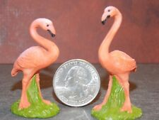 Dollhouse Miniature Flamingos Set 2 in tall Animal 1:12 scale Dollys Gallery F72
