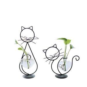 Metal Vase Abstract Black Lines Minimalist Nordic Flower Home Decor Ornaments
