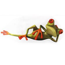 3D Funny Green Lying Frog Car Window Wall Vinyl Graphic Decal Decor Sticker HOT