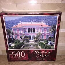 SURE LOX 500 PC JIGSAW PUZZLE COTE D AZUR HOUSE IN FRANCE
