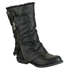 Women's Solid Zip Boots