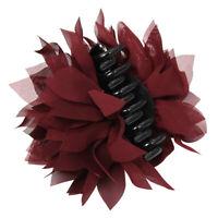 Haarklammer Haarclip Haarspange Haarschmuck Haar Blüten Lotusblume Bordeaux