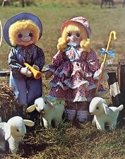 The Gingham Goose Vintage Cloth Doll Pattern Little Bo Peep &Boy Blue With Sheep