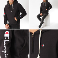 RRP - £100.00 Champion Men's Reverse Weave Fleece Hoodie, Black, Size L