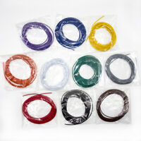 10 Lots 5 Meters UL1007 Electronic Wire 24awg 1.4mm PVC Electronic Cable #24