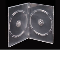 (Free P&H) Double 100 Clear 14mm CD / DVD Cases Quality Std Size DVD Case Cover