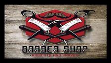 Barber Shop Bar Runner Counter Mat Barbers Salon Hairdressing Rustic 1030