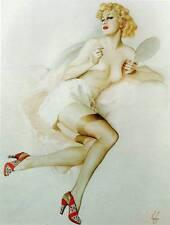 Vintage Alberto Vargas Original Art Nouveau impresión de placa de libro